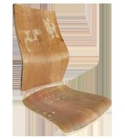 Asiento y respaldo madera pinto
