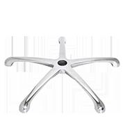 Base de aluminio 26 pulg con rodajas de 60 mm