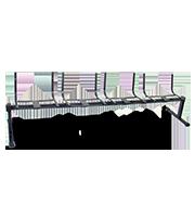 Estructura para banca Tandem T 4 plazas negro
